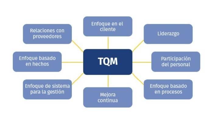 TQM principios, gestión de la calidad total principios